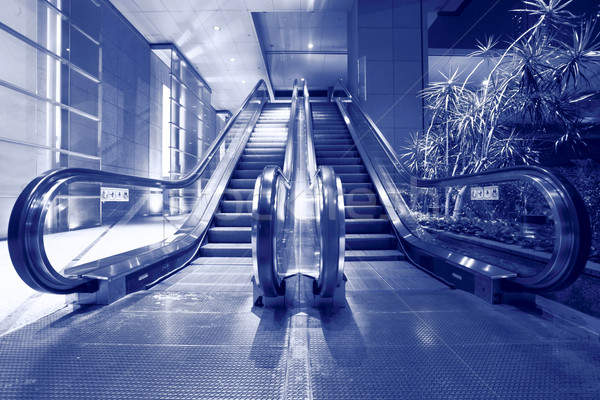escalator in blue tone Stock photo © leungchopan