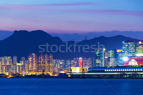 Urban city in Hong Kong at night Stock photo © leungchopan
