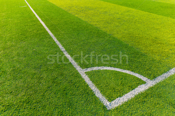 Corner of a synthetic football field  Stock photo © leungchopan