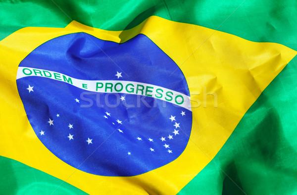 Tkaniny Brazylia banderą tekstury streszczenie Zdjęcia stock © leungchopan