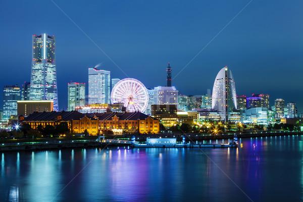 Иокогама Skyline ночь служба здании город Сток-фото © leungchopan