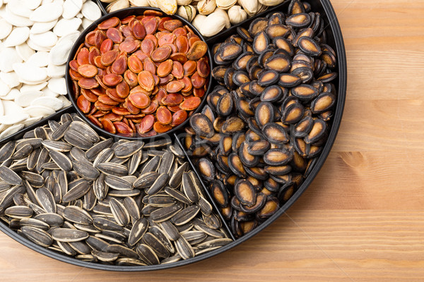 Assorted Snack tray for Lunar new year Stock photo © leungchopan