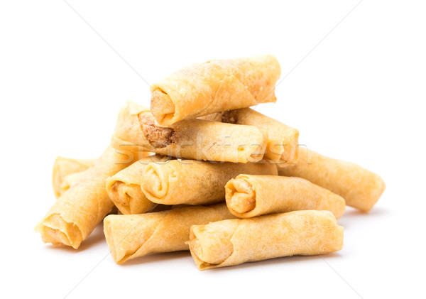 Stock photo: Chinese prawn spring roll