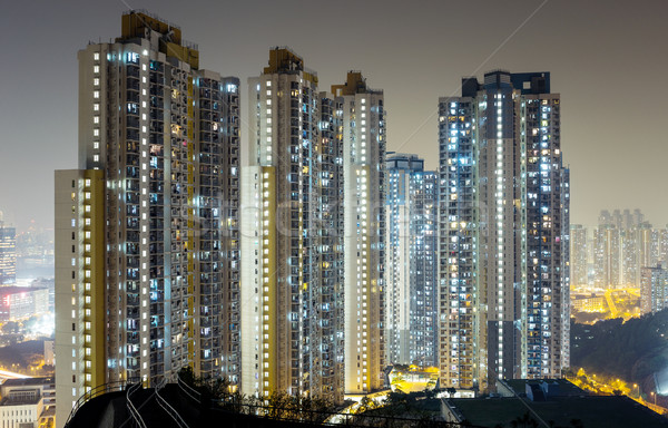 Cityscape at night Stock photo © leungchopan