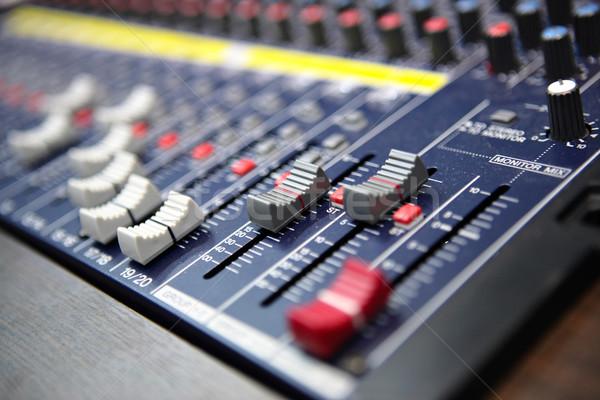 Hang keverő asztal stúdió lemez média Stock fotó © leungchopan