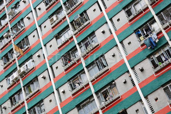 Hong Kong public carcasa apartament cer peisaj Imagine de stoc © leungchopan