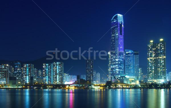 香港 市泊 水 建物 海 ホーム ストックフォト © leungchopan