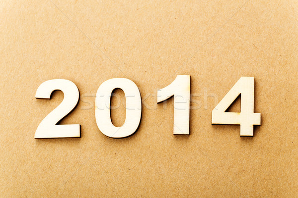 Wooden text for year 2014 Stock photo © leungchopan
