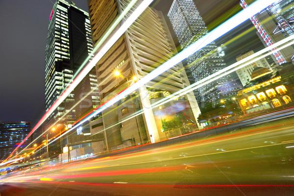 night traffic in city Stock photo © leungchopan