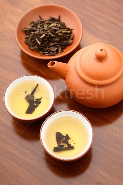китайский чай церемония продовольствие здоровья Кубок Сток-фото © leungchopan