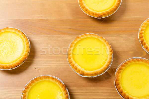 Huevo tarta alimentos comer pie Foto stock © leungchopan