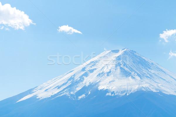 Montanha fuji Japão céu neve azul Foto stock © leungchopan