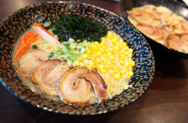 Japán ramen Ázsia leves étel edény Stock fotó © leungchopan