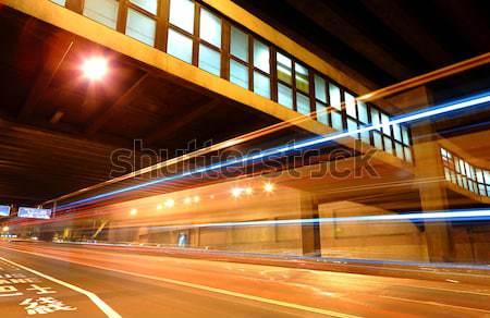 ストックフォト: トンネル · ビジネス · 抽象的な · 光 · 橋 · 青