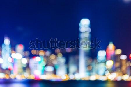 Defocused of cityscape in Hong Kong Stock photo © leungchopan