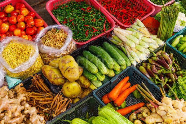 Vegetable in market stall Stock photo © leungchopan