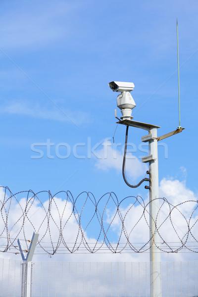 Időjárás bizonyosság megfigyelés kamera televízió technológia Stock fotó © leungchopan