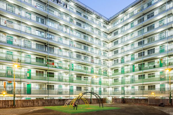 Public housing block in Hong Kong  Stock photo © leungchopan