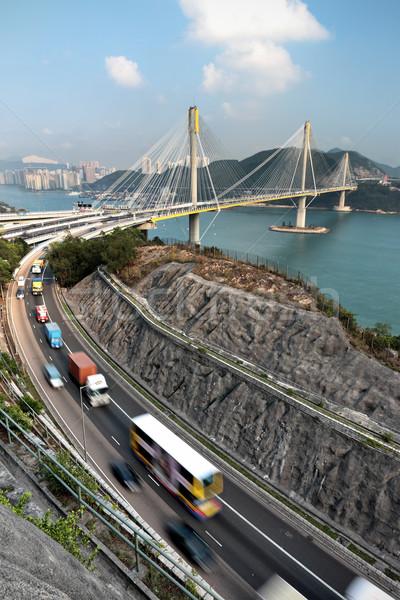 highway and Ting Kau bridge Stock photo © leungchopan