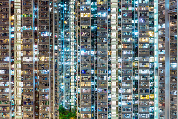 Compact building in Hong Kong Stock photo © leungchopan