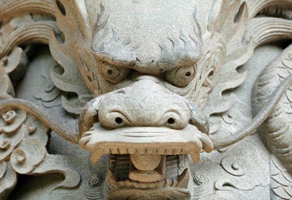 Dragon chinois statue temple Voyage pierre architecture Photo stock © leungchopan