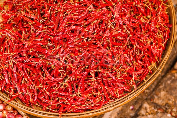保全 赤 バスケット 食品 ストックフォト © leungchopan