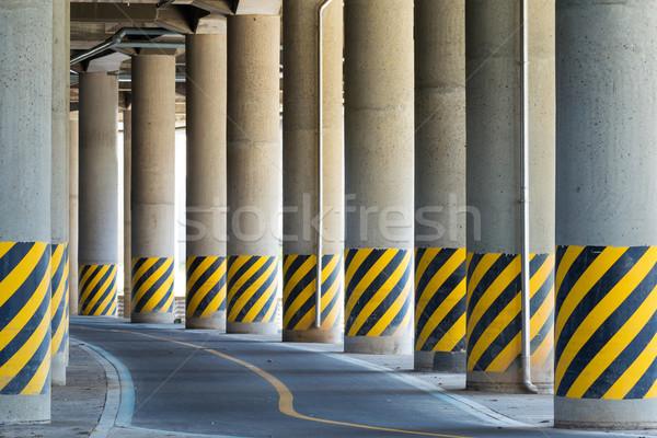 Dolny autostrady drogowego most krajobraz ulicy Zdjęcia stock © leungchopan