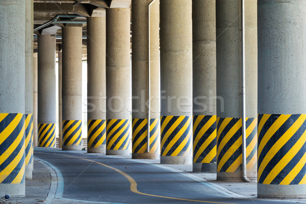 Bottom view under the viaduct Stock photo © leungchopan