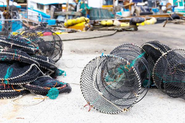 Capturar textura mar oceano verde indústria Foto stock © leungchopan