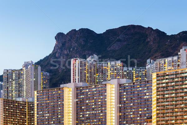 Hong Kong cityscape at night Stock photo © leungchopan