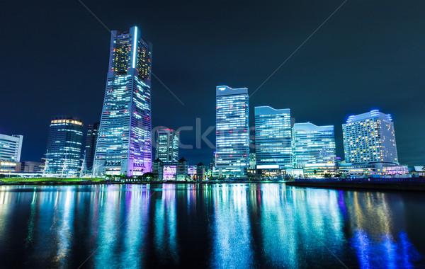 Сток-фото: Иокогама · ночь · бизнеса · служба · здании