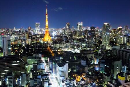 Tokio noche ciudad paisaje urbanas Foto stock © leungchopan