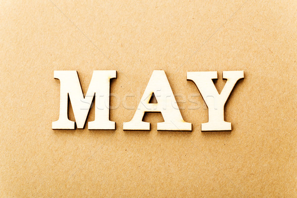 Wooden text for May Stock photo © leungchopan