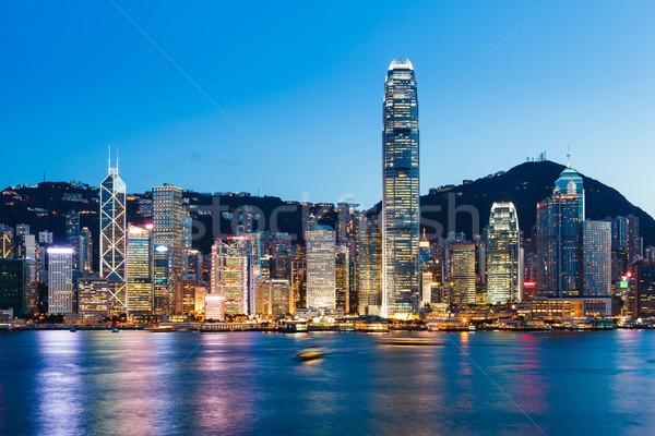 Victoria Harbour in Hong Kong Stock photo © leungchopan