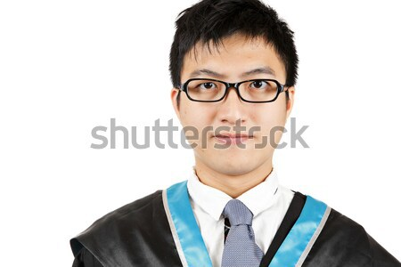 Male student graduating Stock photo © leungchopan
