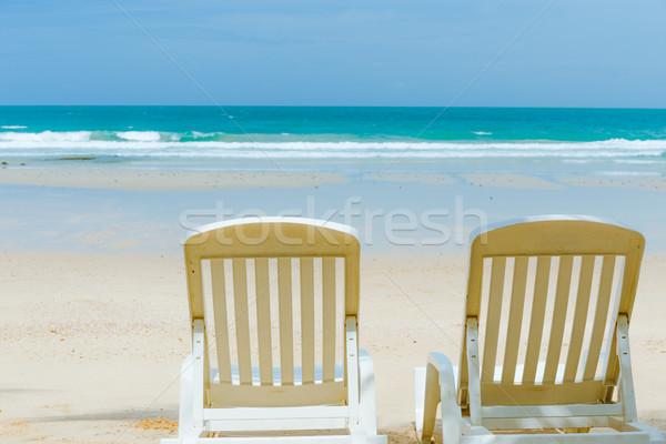 Gyönyörű tengerpart nyár idő természet élet Stock fotó © leungchopan