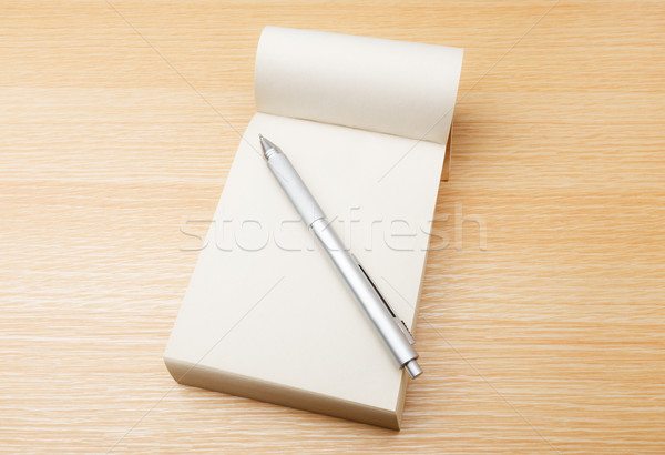 Memo pad and pen Stock photo © leungchopan