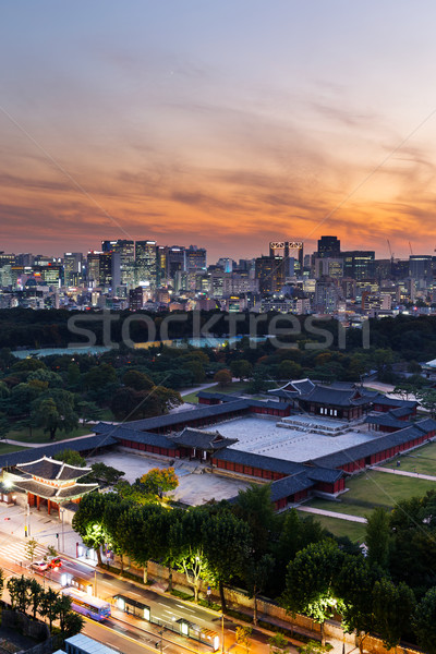 Historyczny pałac Seul miasta działalności biuro Zdjęcia stock © leungchopan