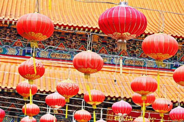Oriental Lanterns for Asian temple Stock photo © leungchopan