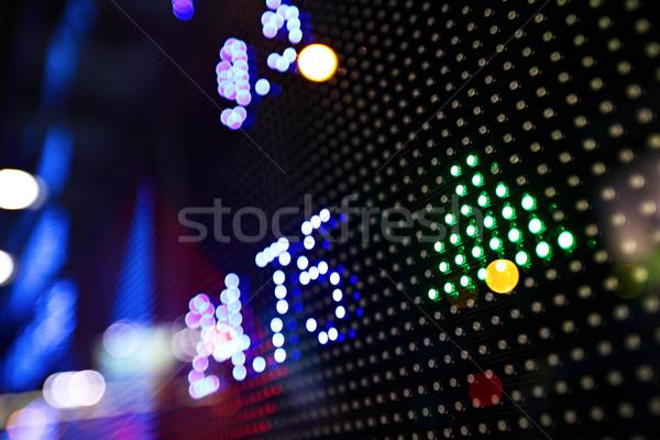 Foto d'archivio: Mercato · azionario · prezzo · display · abstract · monitor · blu