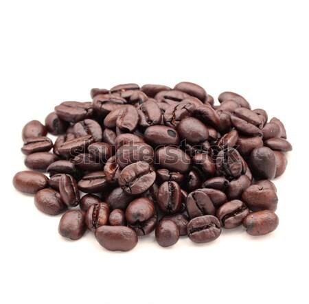 Grão de café textura comida café natureza Foto stock © leungchopan