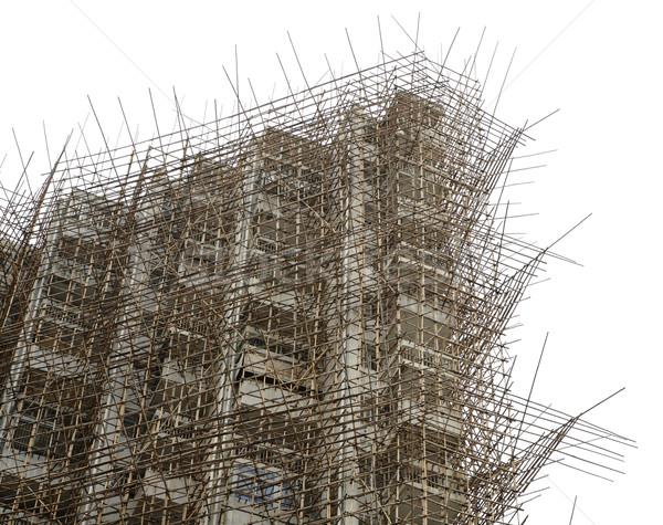 bamboo scaffolding in construction site Stock photo © leungchopan