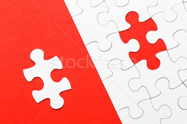 対称の パズル 家族 ネットワーク チーム ミラー ストックフォト © leungchopan