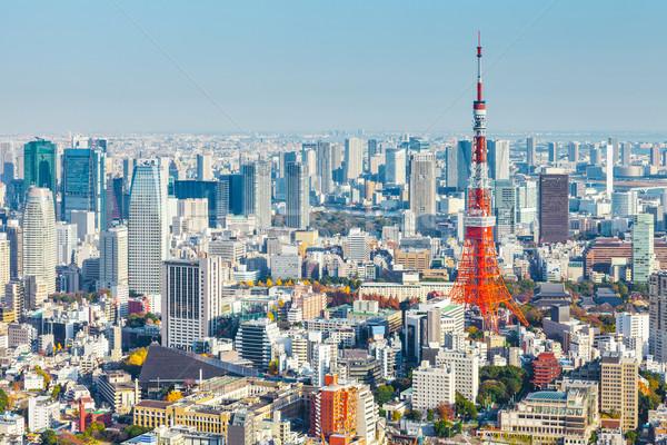 Tóquio cityscape céu construção azul urbano Foto stock © leungchopan