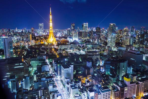 Tóquio Japão cityscape urbano linha do horizonte arquitetura Foto stock © leungchopan