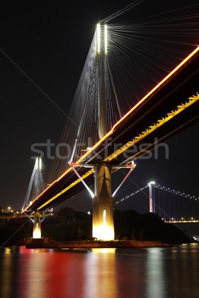 Ting Kau Bridge at night Stock photo © leungchopan