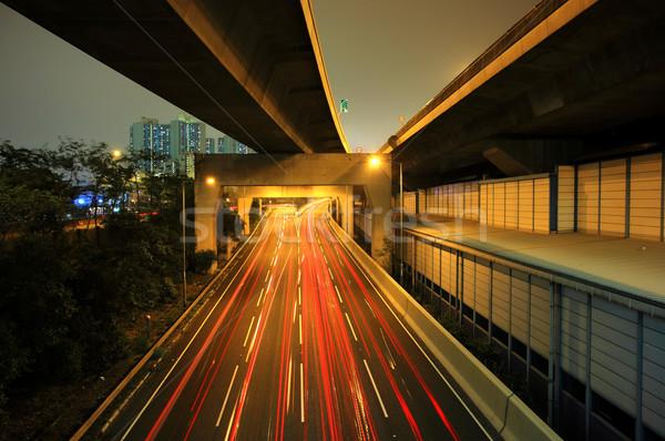 highway at night Stock photo © leungchopan