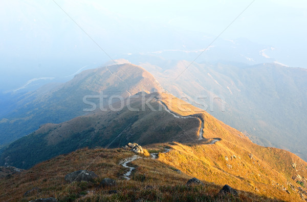 Stock photo: path for hiking on hill