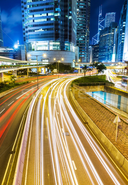 занят движения город автомобилей облака здании Сток-фото © leungchopan