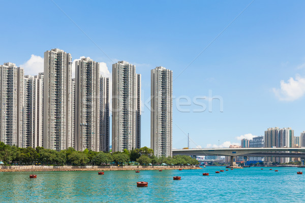 Hong kong residential area Stock photo © leungchopan